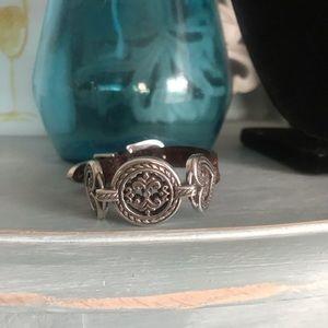 Brighton Leather & Silver Tone Bracelet